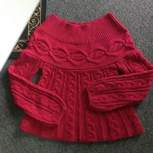 Small Babydoll Red Sweater